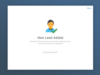 Successfully Added New Lead