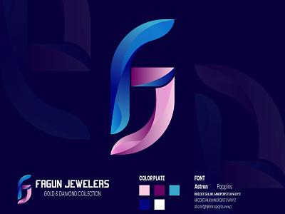 Modern F+J Letter Logo ui illustration design logomurah logomark logomarca logomaker logo logodesinger logodaily