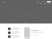 School Website Wireframe