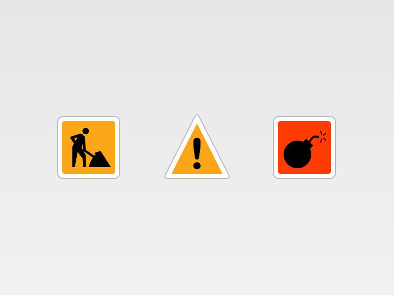 Interruptions for Railer icons railer ios 7 works alert bomb