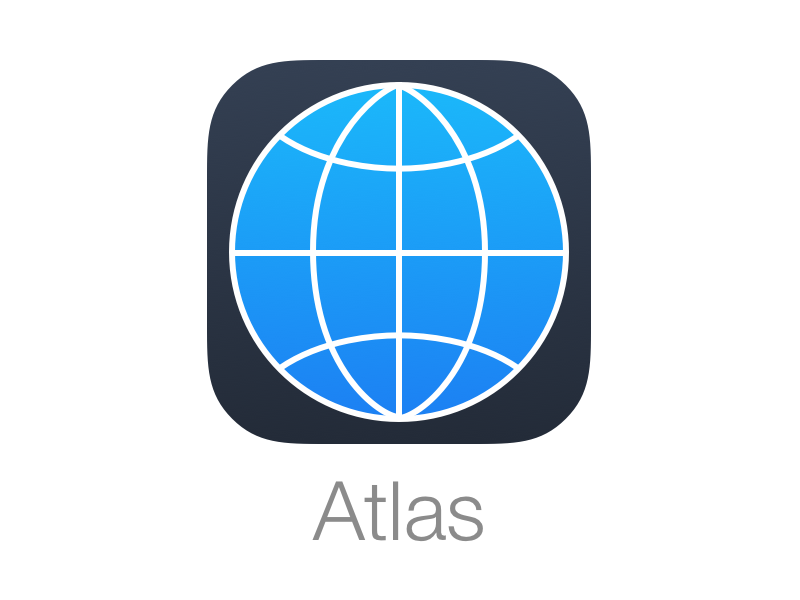 Atlas icon ios map globe