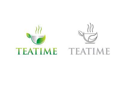 Teatime, logo design, tea logo, logo mark minimal modern unique logo design business logo company logo app design flat logo minimalist logo creative barnd identy