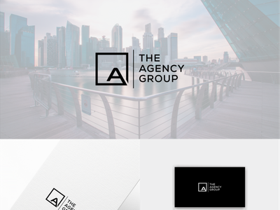 The Agency Group, Logo design unique logo letter logo company logo app design modern minimal business logo creative barnd identy