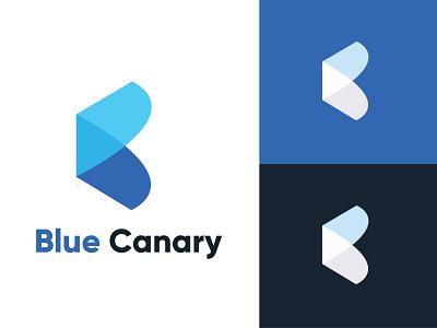 Blue Canary logo unique logo brand identity barnd identy modern app design company logo business logo creative minimal minimalist logo