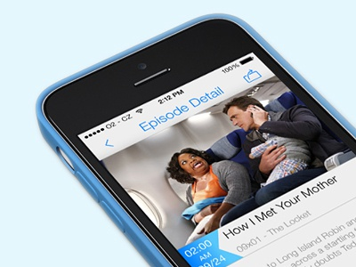 The Series Notifier ux iphone app the series notifier