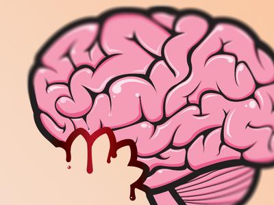 Brain vector graphics shirt design