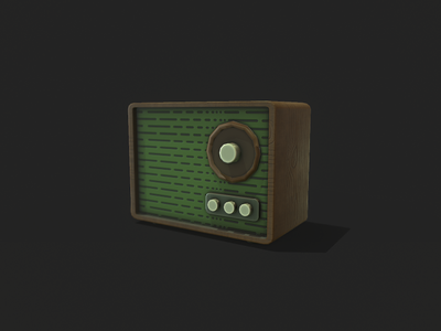 Stylized Retro Radio low poly 3d game asset game art stylized 3dmodel lowpoly gamedev cartoon gameart