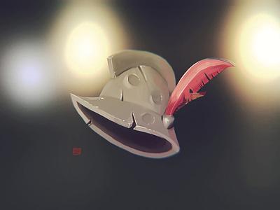 Spanish Helmet hand painted game art drawing concept art illustration stylized gamedev cartoon gameart