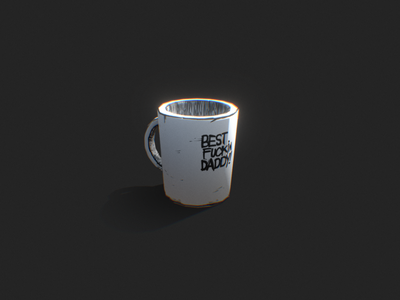 Mug . Hand Painted Texture illustration low poly 3dmodel hand painted concept art drawing stylized gamedev cartoon gameart