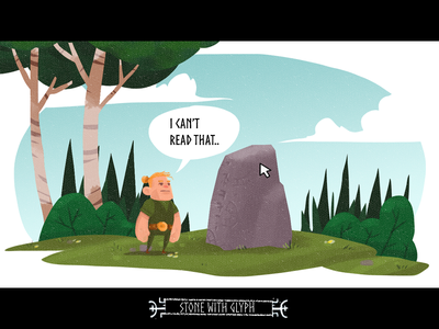 Viking Life - Prototype illustration drawing adventure game point and click game art game development gameart gamedev