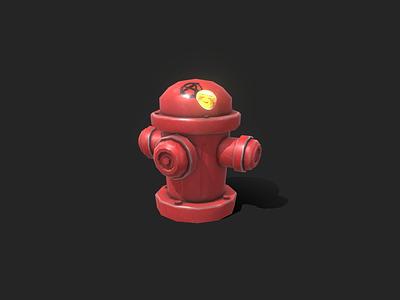 Props - Stylized Fire Hydrant cartoon stylized gamedev gameart lowpoly 3dmodel