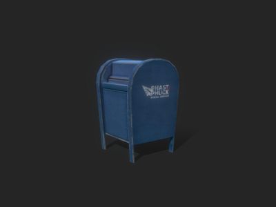 Props - The Mailbox mailbox props 3dmodel lowpoly gamedev gameart