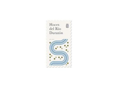 """""""Las Hoces del Duratón"""" Stamp forest arbol sello stamp españa spain leon y castilla rio river fluss"""