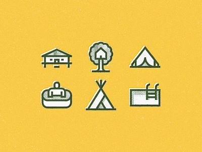 Travel for Flaticon tent treehouse tree swimmingpool swim jacuzzi icon pack flaticon flat texture halftone