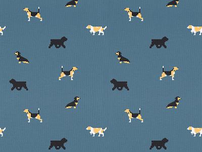 Dogs fabric dog hunter beagle texture fabric england socks dogs pattern