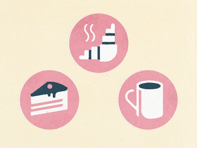 Coffee shop icons relax icon texture food croissant mag cup cake coffee cafe