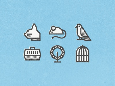 Veterinary for Flaticon part. I line texture animals animal veterinary wheel cage bird cat mouse pack icon