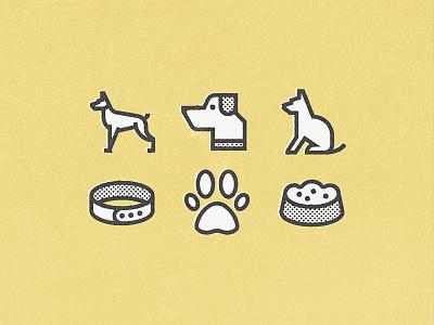 Veterinary for Flaticon part. II line texture halftone veterinary animal silouette food doggo dog pack icon