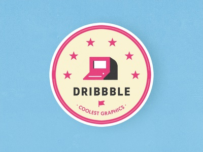Internet's coolest graphics mule sticker shadow icon flag badge star vintage computer dribbble