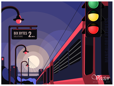 Just a mile away from Bix Bytes Solutions graphicdesign adobe illustrator illustraion uiux train