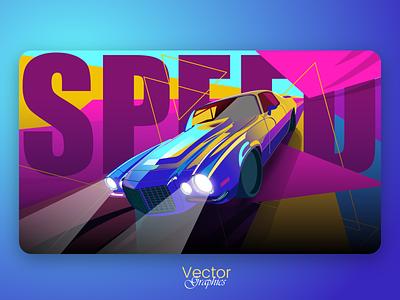 Super Speed Car graphicdesign illustration adobe illustrator vector speed car