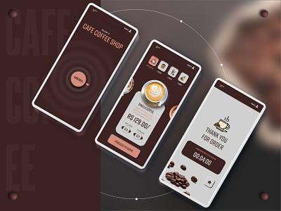 Coffee shop table menu UI table menu mobile 3d design adobe illustrator menu cafe coffee