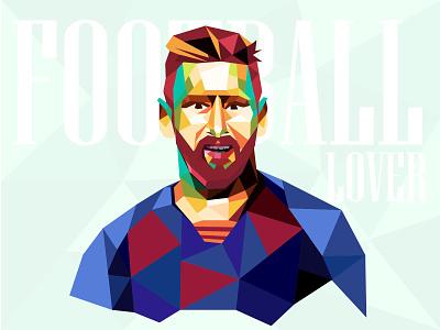 Lionel Andrés Messi player soccer colors shape geometric footbal messi design graphicdesign vector graphic design illustration adobe illustrator