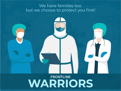 Frontline Warriors tribute to frontline warriors new design trends popular designs health workers frontline warriors pandemic design vector graphic design illustration adobe illustrator