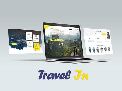 Travel In adobe illustrator website mockup template layout ui web creative latest