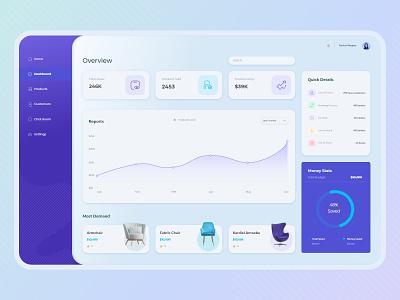 Seller Dashboard Design blue purple minimalist seller dashboard xd adobe ui