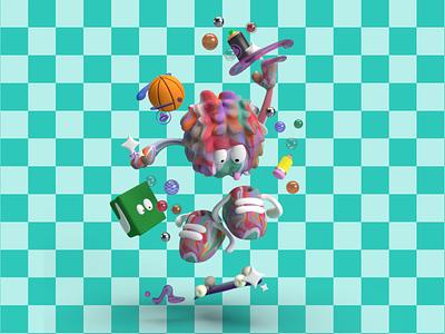 🏀✏️FLUZ HAPPINESS✏️🏀 3d art digital art skate skateboard character design character 3dart 3d