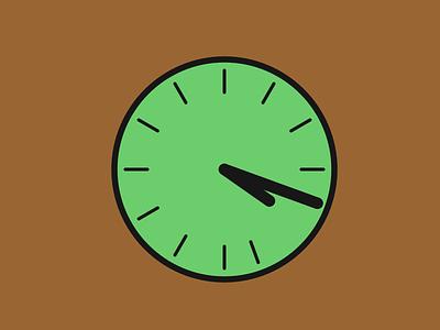 4:20 watch green clock time