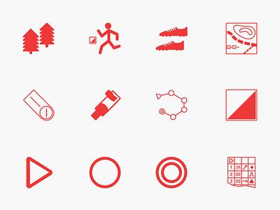 Orienteering Icons outdoorm icons sport orienteering
