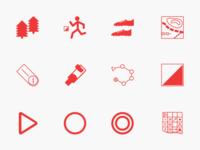 Orienteering Icons