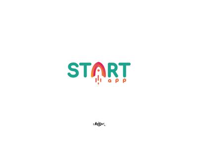 logo / start app gate branding typography brand rocket identidade visual identity designer identity branding identity design idea idenity identity logo app design application app start up startups startup