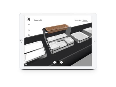 3D Buffet Configurator usability sales ui ux interface buffet configurator 3d