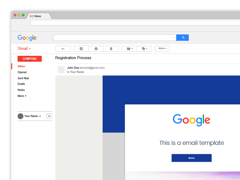 Free Gmail Illustrator Template By Kevin Bareiss On Dribbble