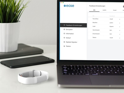 Ease - more security for your company ease security data student ui wearable ux