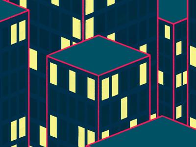 Les Gratteurs de Ciel illustration drawing skyscrappers contest