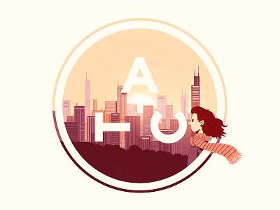 Logo - ATC Artist Series 1 atc avondale type co chicago dusk scarf type illustration typography