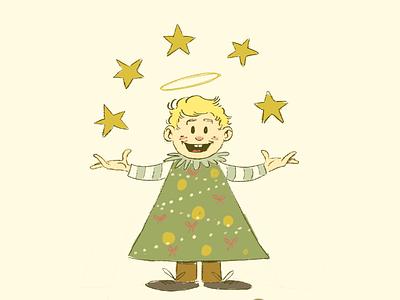 Merry Christmas merry christmas christmas illustration drawing angel christmas tree star