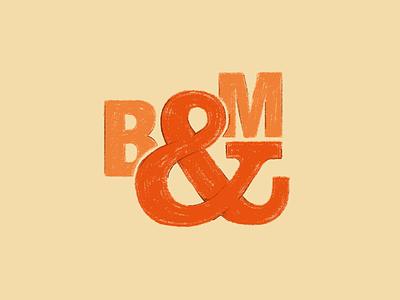 Restaurant 2 ampersand b m typography illustration restaurant design