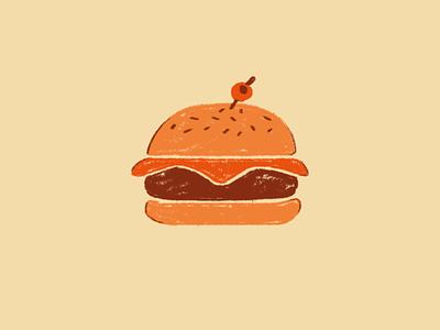 Hamburger restaurant food hamburger icon illustration design
