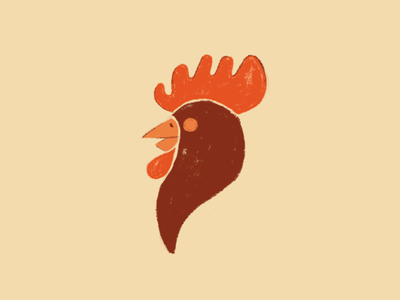 French restaurant icon design illustration rooster french