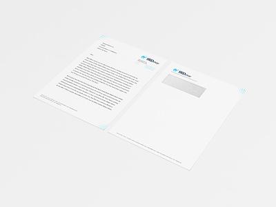 SEOshop letterhead and envelope print letterhead envelope branding identity design letter seoshop graphic design
