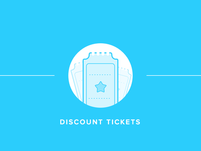 Discount Tickets illustration visual coupon ticket tickets discount