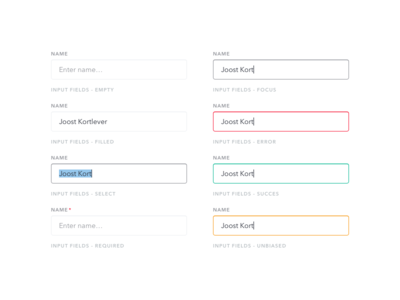 Sneak peek #2: Input fields states userinterface ui stylekit elements element interface inputform forms form input inputfield