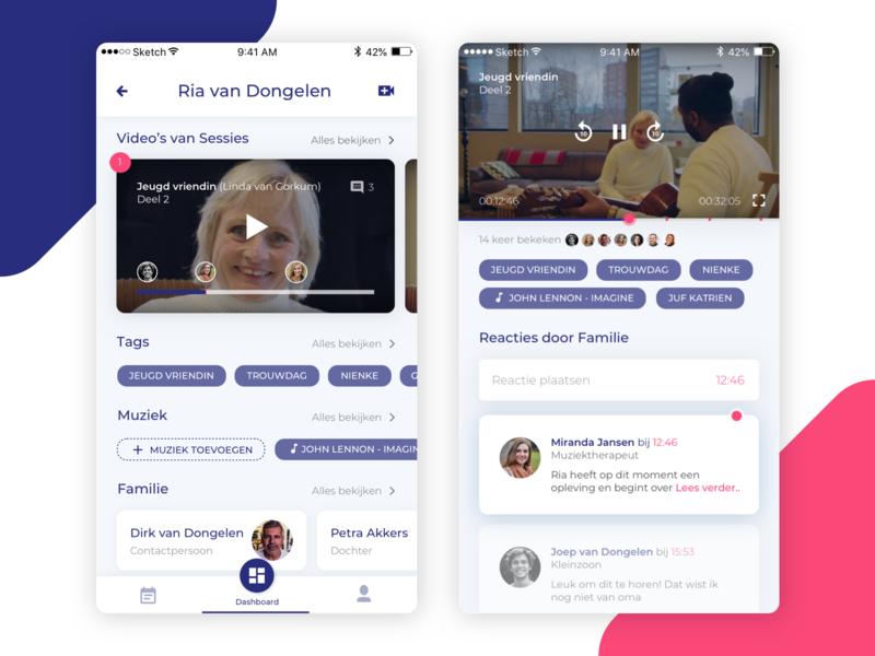 BrainTrainerPlus add dashboard tags video response ux ux ui design ux designer ux-ui ui ux user ui mobil dementia app mobile app sketch design mobile app design mobile