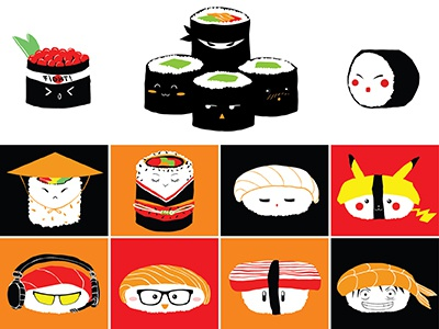 Sushi sushi japan pikachu luffy princess fish geek cute geisha ninja salmon nigiri