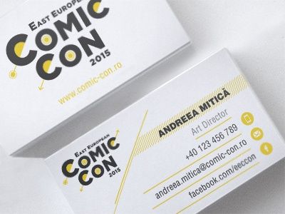 Business Card EECC 2015 design business card comic con east european comic con graphic design